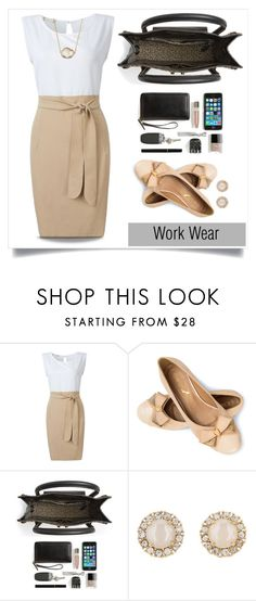 """""""Work Wear"""" by linkfari ❤ liked on Polyvore featuring Loeffler Randall, Kate Spade, Jules Smith and contestentry"""