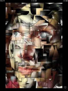 Fun with Fracture app to create my own cubist portrait