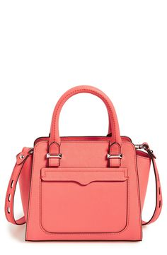 In love with this bright coral tote by Rebecca Minkoff! It will be the perfect accessory for summer.
