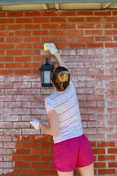 Ideas For Exterior Brick Limewash Fireplaces Brick Tile Wall, Brick Fireplace Wall, Brick Wall Decor, Painted Brick Walls, Brick Flooring, Brick Cladding, Brick Fireplaces, Fireplace Redo, Brick Art