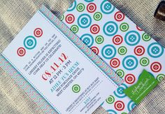 'Cute as a Button' baby shower invitations!