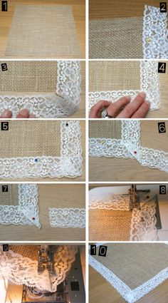 how to make hessian table runners