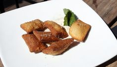 Banana and Nutella spring rolls at Masa 14 on Bitches Who Brunch {www.BitchesWhoBrunch.com}