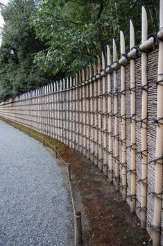 The exterior wall of Katsura Imperial Villa, designed, like all the garden, for purity and simplicity - http://en.wikipedia.org/wiki/Japanese_garden