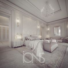 Master bedroom design • Private Palace • #الدوحه #doha #qatar #dubai #uae…