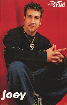 N'Sync Joey Fatone Original 1998 Portrait Poster 22x34