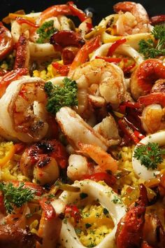 Spanish Food Recipes In Spanish Language.Seafood And Chorizo Paella Recipe Spanish Recipes SBS Food. Spanish Recipe Project For Food And Affirmative T . Best Fish Recipes, Seafood Recipes, Mexican Food Recipes, Great Recipes, Cooking Recipes, Favorite Recipes, Seafood Paella Recipe, Shrimp Dishes, Fish Dishes