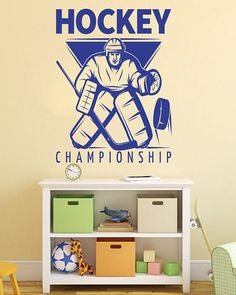 Amazon Com Ceciliapater Rta1503 Hockey Goalkeeper Boys Sport Game Nhl Kids Children Office Nursery Gift Wall Decal Vinyl Decor Sticker Bedroom Kitchen Dining