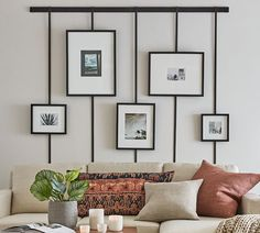 Silver Picture Frames, Hanging Picture Frames, Hanging Pictures, Picture Wall, Picture Frame Decor, Modern Picture Frames, Picture Boxes, Photo Wall, Gallery Wall Frames