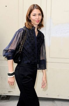 Sofia Coppola Photos - Arrivals for the Chanel Fall-Winter Couture fashion show during Paris Fasion Week. - Arrivals for Chanel Couture Couture Fashion, Fashion Show, Chanel Couture, Sofia Coppola Style, Divas, Diana Fashion, Parisian Chic, Her Style, Style Icons
