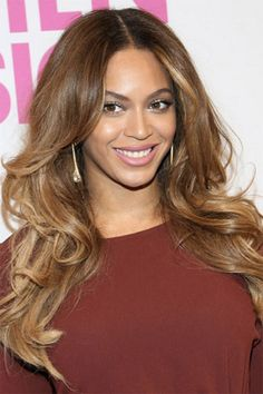 Caramel brown wavy hair Beyonce