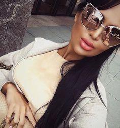 Big Sunglasses, Sunnies, Mirrored Sunglasses, Nita Kuzmina, Eyeglasses,  Fashion Wear, 587171710f