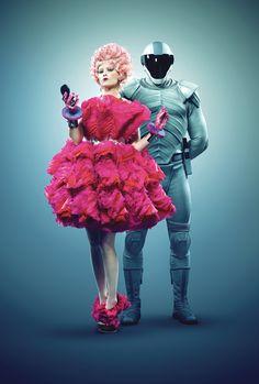 Catching Fire. Effie and Capitol Guard. Costume Designer: Trish Summerville
