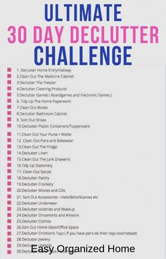 How To Get Motivated To Clean When Overwhelmed By Mess? Try our 30 day Declutter Challenge. It's an easy way to declutter and get your home feeling amazing! Deep Cleaning Tips, House Cleaning Tips, Cleaning Hacks, Cleaning Schedules, Cleaning Calendar, Cleaning Challenge, Spring Cleaning Checklist, Cleaning Items, Daily Cleaning