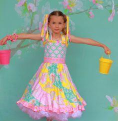 Candy Cotton Twirl Dress by maninisunshine on Etsy