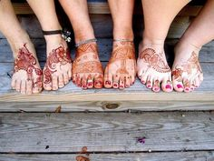 Henna feet for wedding :) love the pic with your bridesmaids feet too