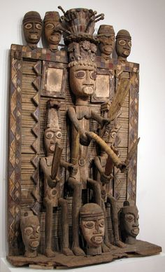 Africa |  Igbo Shrine Panel, Nigeria | © Ann Porteus, Sidewalk Tribal Gallery
