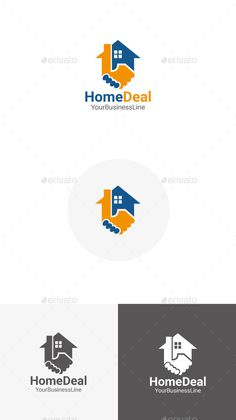 Home Deal by JPathan Home Deal Logo Template 100 Vector CMYK Colors Eps,AI Font in help file. Rate if you Like it *