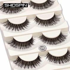 5 pair/set False Eyelashes Natural Long Make up Eye lash Black Cross Fake Eyelash Extensione Fake Eyelashes lash extension #S19