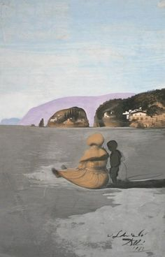 Permanent Collection Archives - Unparalleled collection of Salvador Dalí art works Arquitectura Wallpaper, L'art Salvador Dali, Salvador Dali Artwork, Double Image, Social Art, India Ink, Beach Scenes, The Real World, Secret Life