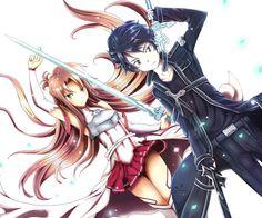 Asuna and Kirito SAO Wallpaper by SpukyCat on DeviantArt