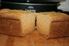 A Year of Slow Cooking: Perfect Gluten Free Bread Baked in the CrockPot. http://www.pinterest.com/CoronaQueen/gluten-free/ ☀CQ #GF #glutenfree