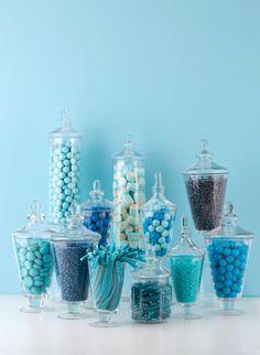 Blue Candy For Baby Shower : candy, shower, Candy, Buffet, Ideas, Buffet,
