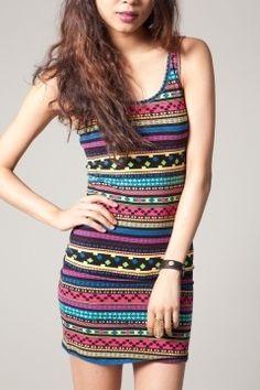 Lovely tribal print dress