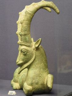 A Sumerian sculpture housed in the British Museum. The statue is that of a ram with glorious curved horns. The Sumerians used the ram as a symbol of their culture.