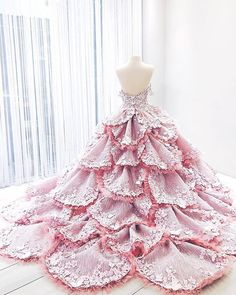 If you can't go visit a field of flowers you can always dress up as one! has a great selection of colorful and vibrant shoes that will… Ball Dresses, Ball Gowns, Prom Dresses, Wedding Dresses, Debut Gowns, Fantasy Gowns, Beautiful Gowns, Dream Dress, Pretty Dresses