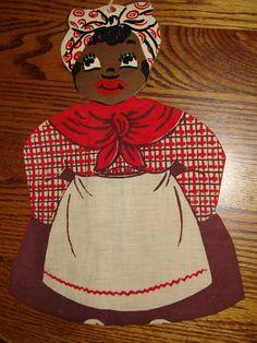 Black Americana Mammy Clothspin Holder,All Original Mammy Doll Near Mint! Stupid Kids, Aunt Jemima, Retail Space, Black Art, Aprons, Vintage Black, Folk, Crafting, Mint