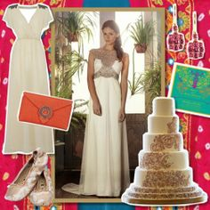 You & Your Wedding - Bollywood Moodboard featuring Wilbur & Gussie Envelope Clutch bag