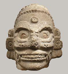 Head of a Rain God, 10th–11th century  Mexico; Maya-Toltec.