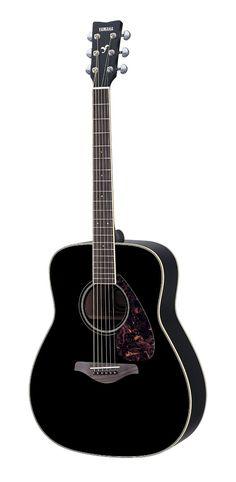 Yamaha Guitars -Yamaha FG720S Acoustic Guitar, Black