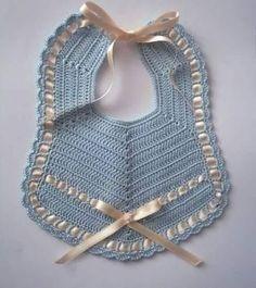 Crochet Baby Bibs, Love Crochet, Crochet Yarn, Crochet Hooks, Baby Bibs Patterns, Baby Knitting Patterns, Crochet Patterns, Bib Pattern, Baby Hats Knitting