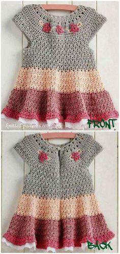 Crochet Tiered dress FreePattern - Crochet Girls Dress Free Patterns