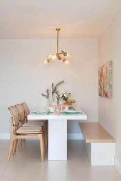 Dining Nook, Dining Room Design, Small Dining Area, Corner Dining Table, Küchen Design, House Design, Garden Design, Design Ideas, Dinner Room