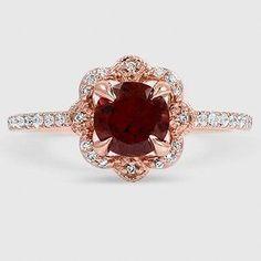 14K Rose Gold Reina Diamond Ring (1/4 ct. tw.) #gold14kjewelry