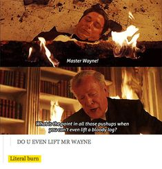 funny-Batman-Bruce-Wayne-Alfred-burn || I cannot express how much I love Alfred!