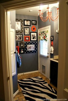 wall display: black and white with any color accents