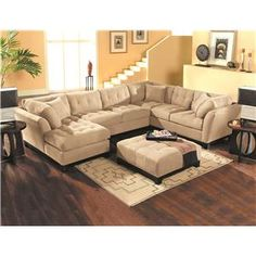Cushy sectional sofa - oh if I had room for this...