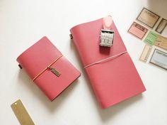 Bubblegum Pink Passport Size Journal Saffiano by PapergeekMY