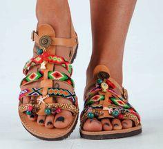 "Women's Shoes, Greek Sandals, Gladiator Leather Sandals, ""Starfish"" sandals"