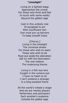 Rush - Limelight Lyrics Rush Lyrics, Rush Songs, Pop Lyrics, Great Song Lyrics, Song Lyrics Art, Country Song Lyrics, Country Songs, Lyric Quotes, Rush Quotes