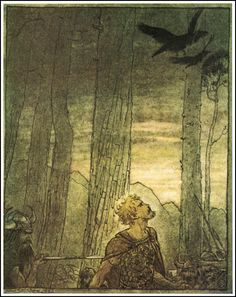 Arthur Rackham - Siegfried's death