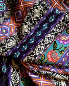Fabric Sourcing - Indian colours and geometric print