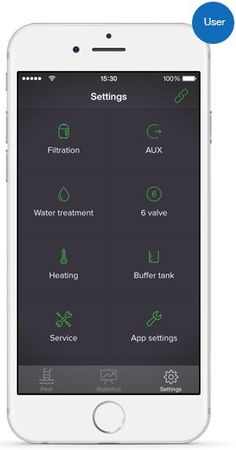 LVLØ pool automation controller app - Settings screen