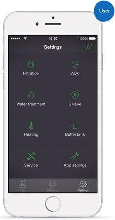 LVLØ pool automation controller app - Settings screen