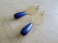 lapis lazouli Drop Earrings, Pictures, Blue, Jewelry, Art, Fashion, Photos, Art Background, Moda