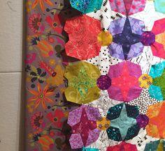 Found the perfect border fabric- Alison Glass!